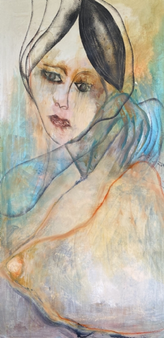 Waiting by Susanne Luup | maleri