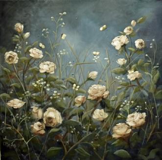 Skymningsdans by Malin Östlund | maleri