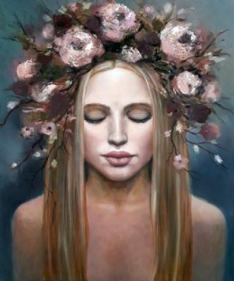 Pure spirit by Malin Östlund | maleri