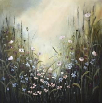 Vallmogläntan by Malin Östlund | maleri