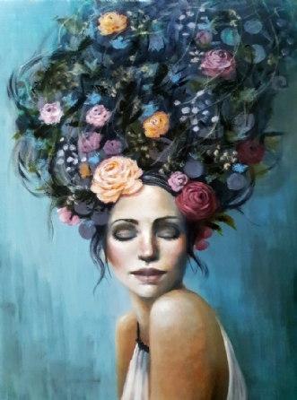Daydream by Malin Östlund | maleri
