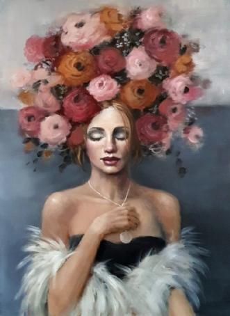 Wish me luck by Malin Östlund   maleri