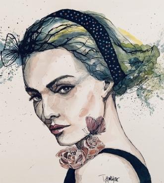 Mystique by Tine Halkjær | tegning