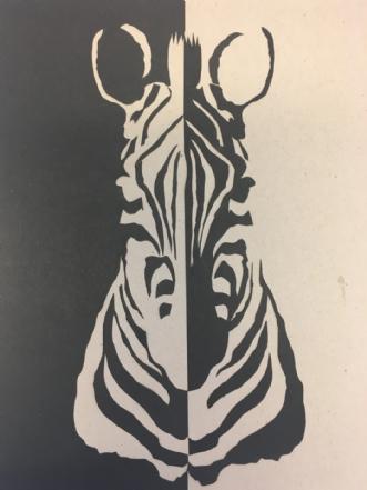 Zebra by Birgitte Hansen | tegning