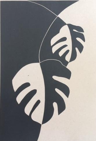 Monstra No 1. by Birgitte Hansen | tegning
