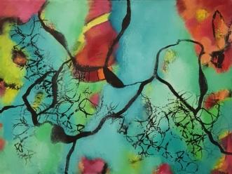Hippie 1 by Lisette Timm | maleri