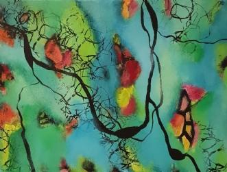 Hippie 2 by Lisette Timm | maleri