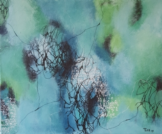 Aqua by Lisette Timm | maleri