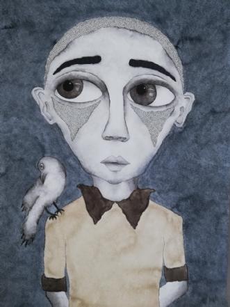 Life flies by by Neel Rosenkrantz | tegning
