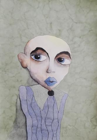 Silent thoughts  by Neel Rosenkrantz   maleri