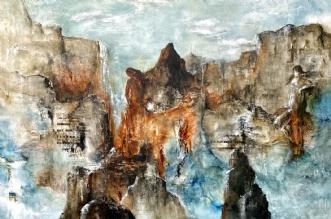Icelandscape_2 by Charlotte Bjørlig | maleri