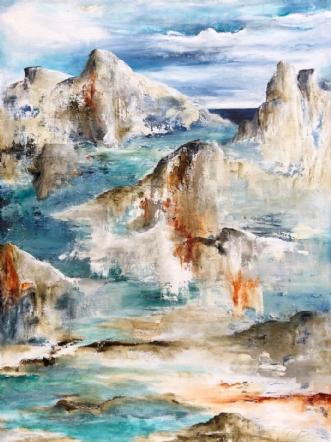 No mans land by Charlotte Bjørlig | maleri