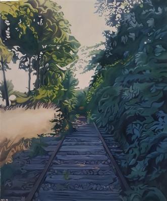 På vej væk 1 by Marie Fredborg | maleri