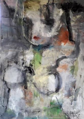 'Surrender' by Jette Lili Hollesen | maleri