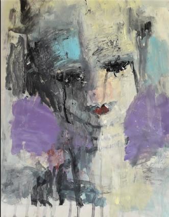 Violet wind by Jette Lili Hollesen | maleri