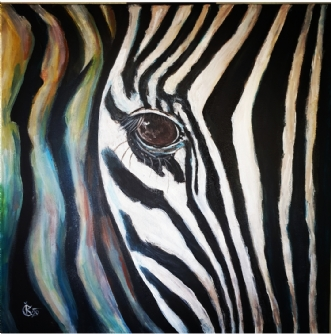 Zebra by Katerina Cechova | maleri