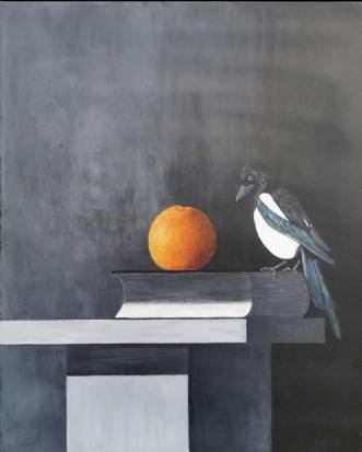 skaden &appelsinen .. by Sif Claudi | maleri