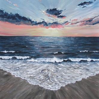 Fire Sunset by Annija Bodniece | maleri