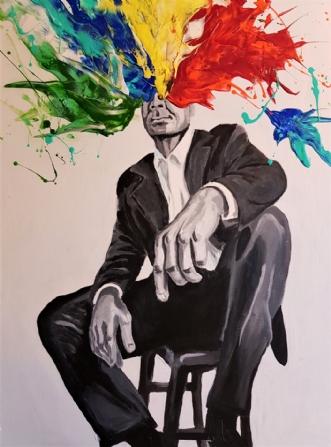 Farveblind - colorb.. by Mette Egebæk | maleri