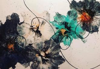 Le Fleur TurquoiseafArtbyKial Madsen