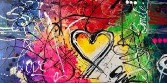 I HEART YOU by ArtbyKial | maleri