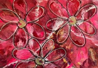 Pretty in pink by ArtbyKial | maleri