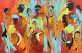 Kom i min sociale b.. by Tine Weppler | maleri