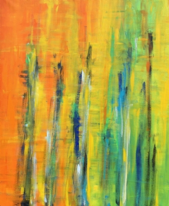 Jeg fanger sollys by Tine Weppler | maleri