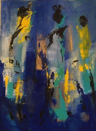 African girls by Tine Weppler   maleri