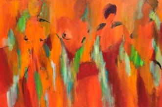 Forårets komme by Tine Weppler | maleri
