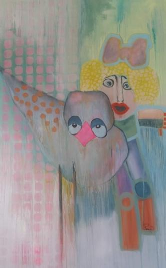 Fuglen by Maja Fogh | maleri