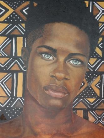 african male by Bente Jepsen | maleri