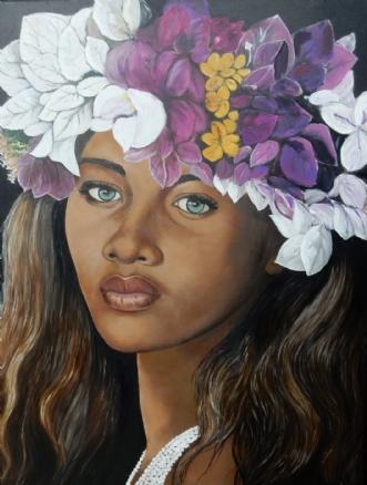 miss Hawaii by Bente Jepsen | maleri