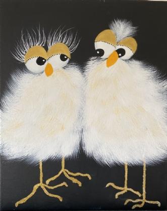 Freya og Freddy by Conni Catharina Helle | maleri