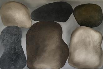 Giant Stones  by Mette Viballe Kristensen | maleri