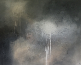 Behind the enemy li.. by Mette Viballe Kristensen | maleri
