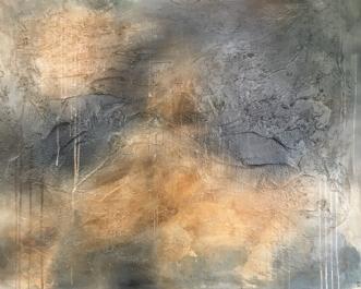Broken clouds by Mette Viballe Kristensen | maleri