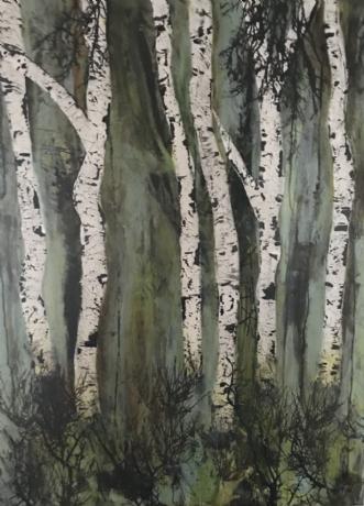 A114 by Susanne Mølby | maleri