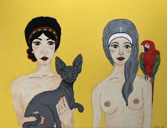 DET VAR KATTENS by Margith Kostending | maleri