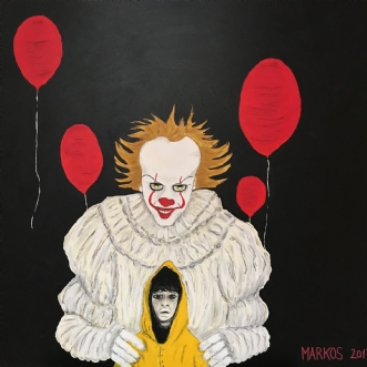 PENNYWISE 3 by Margith Kostending | maleri