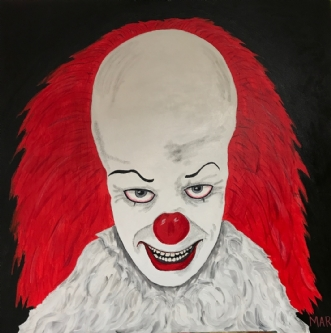 PENNYWISE 1 by Margith Kostending | maleri