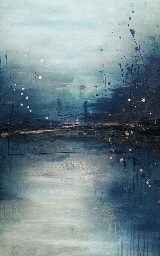 A blue perspective by Luisa Romeri | maleri