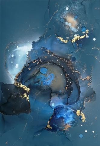 Blue euphoria by Luisa Romeri | tegning