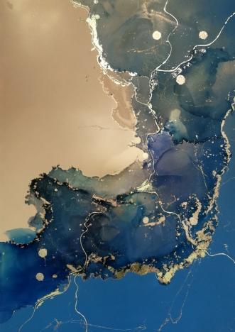 Blue EUPHORIA II by Luisa Romeri | tegning