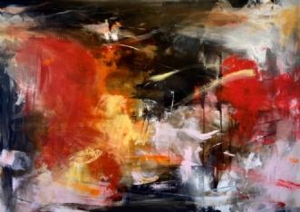 'dancing in the dar.. by Heidi Rattenborg | maleri