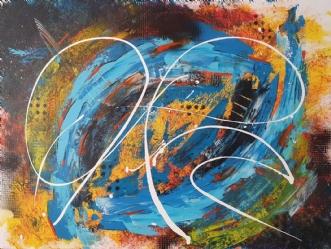 Blue hole by Brian Hessel Madsen | maleri