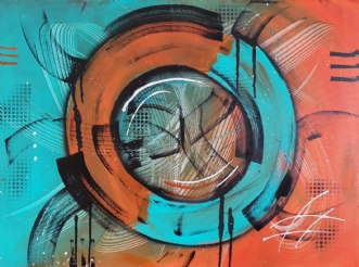 Inner cirkle by Brian Hessel Madsen | maleri