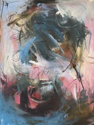 Lockdown 1, 2020 by Louise Hjorth Jespersen | maleri
