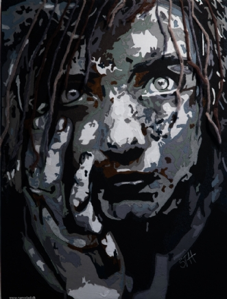 Homeless girl by Silvana Therp Hansen | tekstilkunst