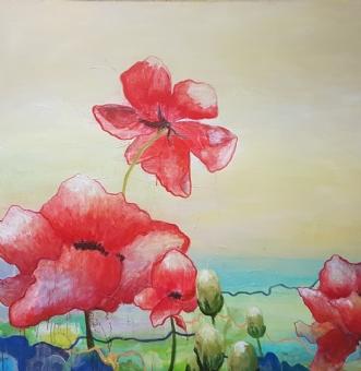 Life Flows by Sarah Guldager Pedersen | maleri